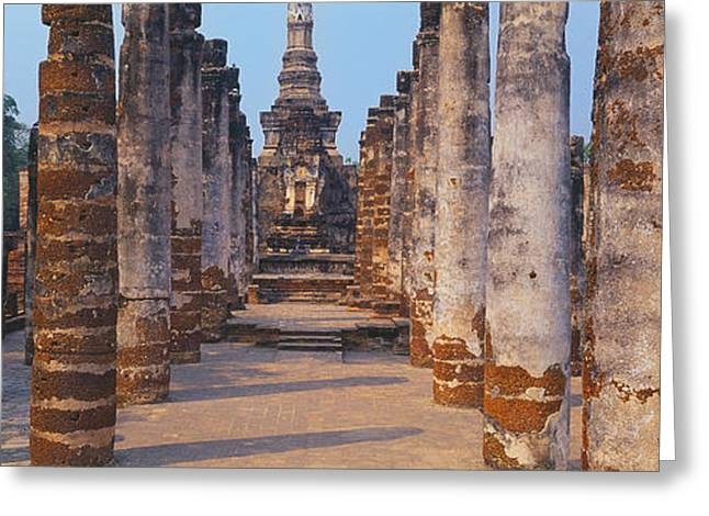 Historical Images Greeting Cards - Ruins Of A Temple, Sukhothai Historical Greeting Card by Panoramic Images