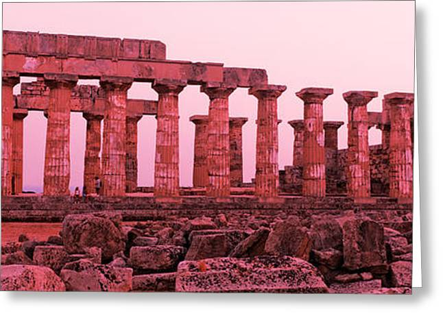 Ruins Of A Temple, Temple E, Selinunte Greeting Card by Panoramic Images
