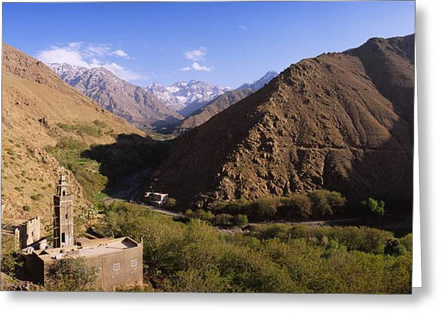 Marrakech Greeting Cards - Ruins Of A Village With Mountains Greeting Card by Panoramic Images