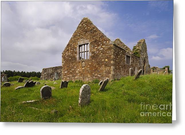 Ballycastle Greeting Cards - Ruins Of Bonamargy Friary, Ireland Greeting Card by John Shaw