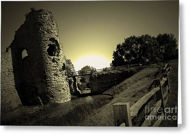 Polish Culture Greeting Cards - Ruins Of Castle At Sunrise Greeting Card by Babs Gorniak