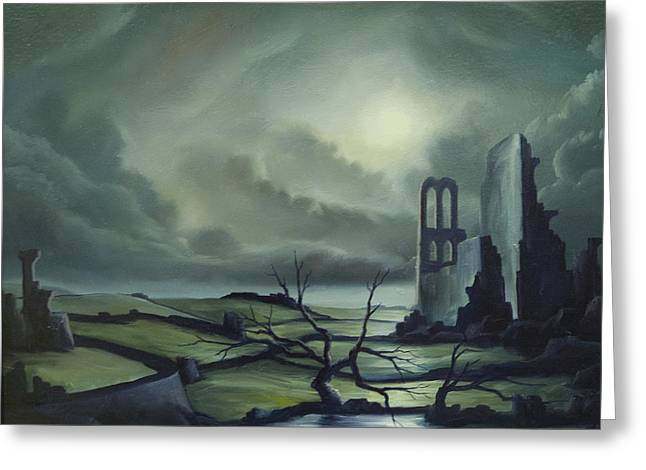 Ruined Empires Greeting Cards - Ruins of Cathedra Greeting Card by James Christopher Hill