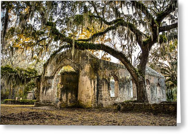 Chapel Of Ease Greeting Cards - Ruins of Chaple of Ease Greeting Card by Josh Whiteside