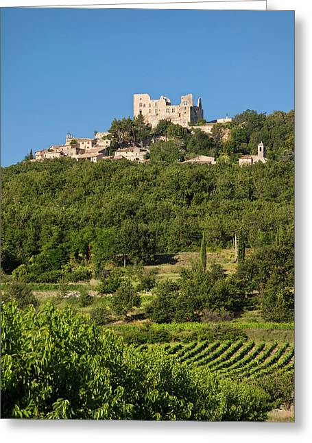 Ruins Of Chateau Marquis De Sade Greeting Card by Brian Jannsen