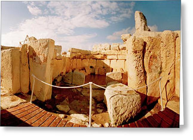 Civilization Greeting Cards - Ruins Of Ggantija Temples, Gozo, Malta Greeting Card by Panoramic Images