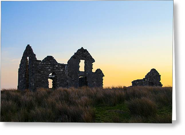 Sligo Greeting Cards - Ruins of Lough Easkie Hunting Lodge Greeting Card by Bill Cannon