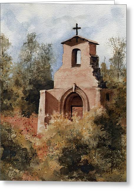 Ruins Paintings Greeting Cards - Ruins of Morley Church Greeting Card by Sam Sidders