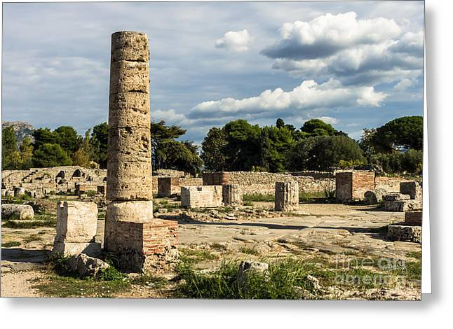 Charly Greeting Cards - Ruins of Paestum Greeting Card by Prints of Italy