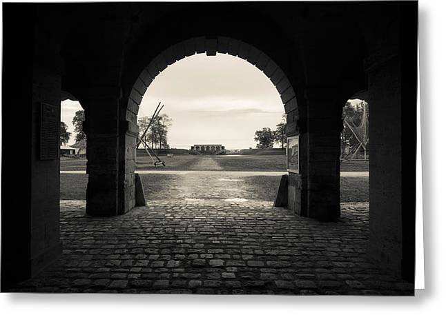 Ruins Of River Fort Designed By Vauban Greeting Card by Panoramic Images