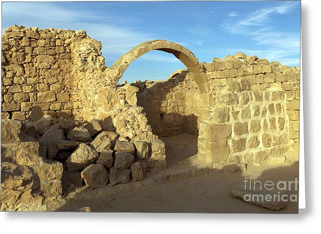 Spice Route Greeting Cards - Ruins of Shivta Greeting Card by Nir Ben-Yosef