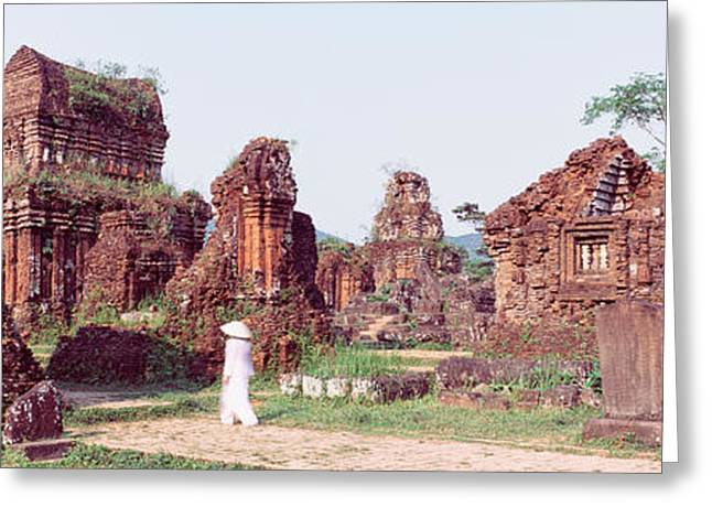 Vietnamese Greeting Cards - Ruins Of Temples, Champa, My Son Greeting Card by Panoramic Images