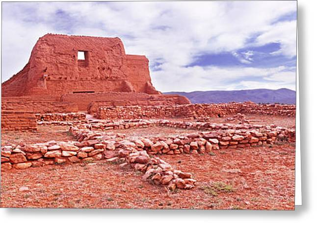 Civilization Greeting Cards - Ruins Of The Mission, Pecos National Greeting Card by Panoramic Images