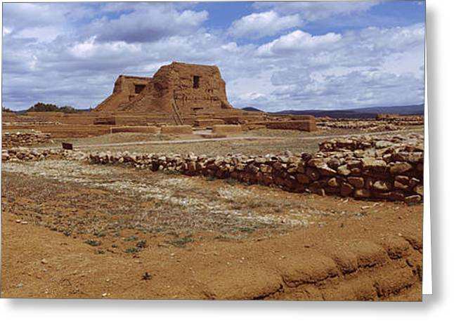 Civilization Greeting Cards - Ruins Of The Pecos Pueblo Mission Greeting Card by Panoramic Images