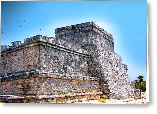 Treasures Mixed Media Greeting Cards - Ruins of Tulum Mexico Greeting Card by Design Turnpike