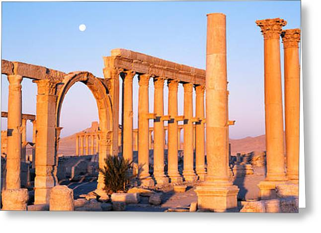 Old Relics Greeting Cards - Ruins, Palmyra, Syria Greeting Card by Panoramic Images