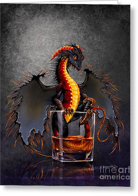 Whimsical. Greeting Cards - Rum Dragon Greeting Card by Stanley Morrison