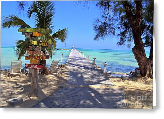 Florida Keys Greeting Cards - Rum Point Greeting Card by Carey Chen