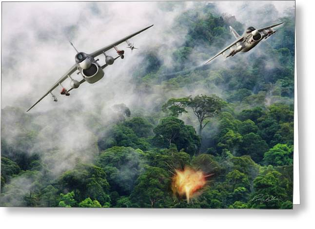 Storm Digital Art Greeting Cards - Rumble In The Jungle Greeting Card by Peter Chilelli