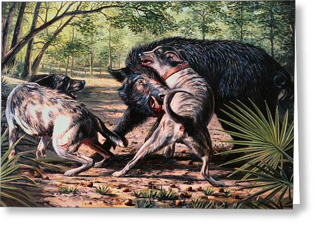 Arkansas Paintings Greeting Cards - Rumble In The Palmetto Greeting Card by Mike Roberts