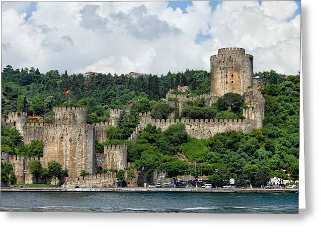 Bastion Greeting Cards - Rumeli Hisari by the Bosphorus Strait in Istanbul Greeting Card by Artur Bogacki