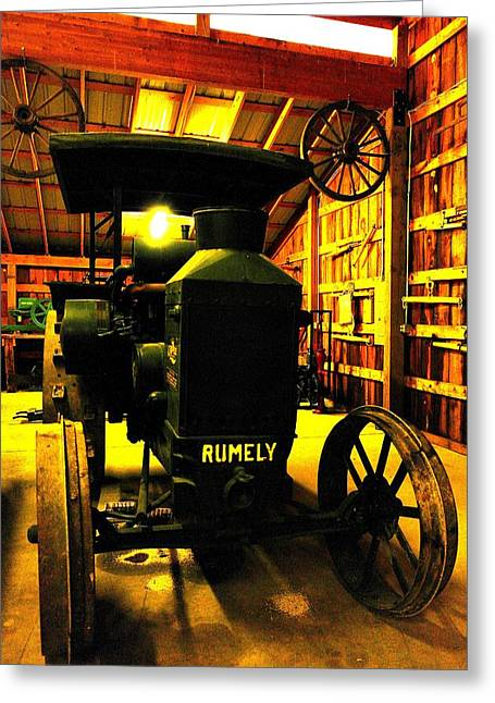 Old Relics Greeting Cards - Rumely Greeting Card by Jeff  Swan