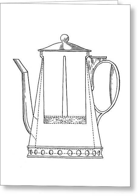 Rumford Coffeemaker Greeting Card by Emilio Segre Visual Archives/american Institute Of Physics