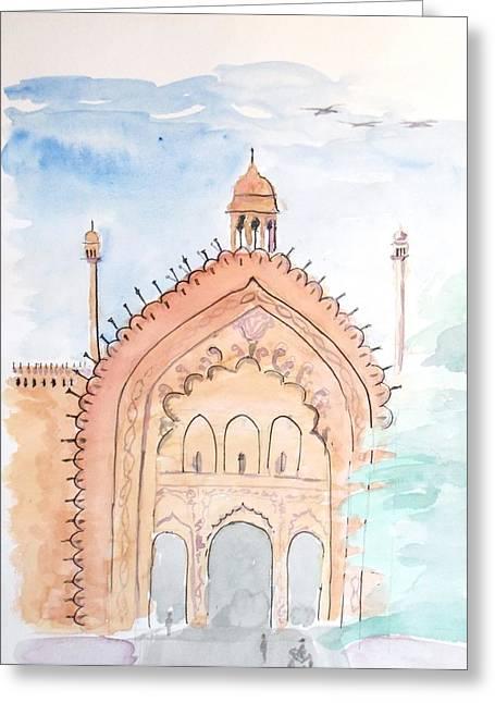 Keshava Greeting Cards - Rumi Gate Greeting Card by Keshava Shukla