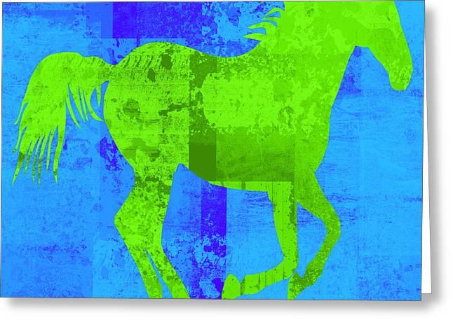Horse Run Greeting Cards - Run Free Greeting Card by David G Paul
