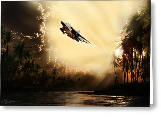 Interceptor Greeting Cards - Run Through The Jungle Greeting Card by Peter Chilelli