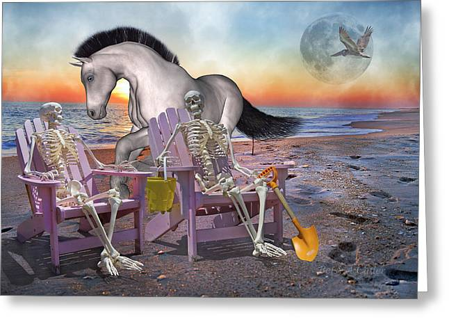 Run with Me Greeting Card by Betsy A  Cutler