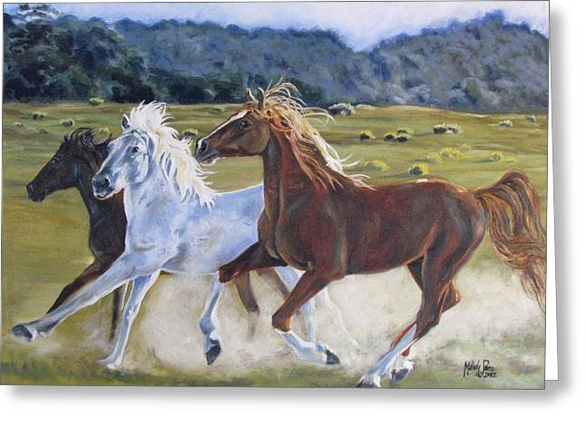 Melody Perez Greeting Cards - Run with the Wild Greeting Card by Melody Perez