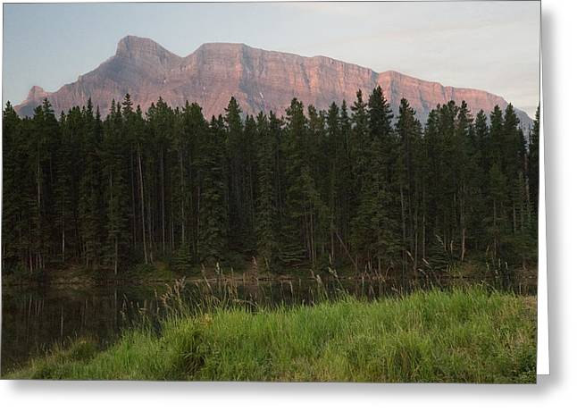 Rundle Greeting Cards - Rundle 1 Mountain Range Greeting Card by Douglas Barnett