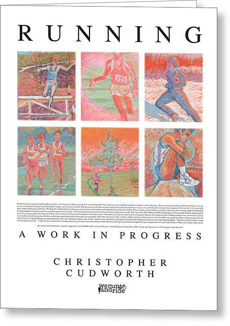 World Pastels Greeting Cards - Running A Work in Progress Greeting Card by Christopher  Cudworth