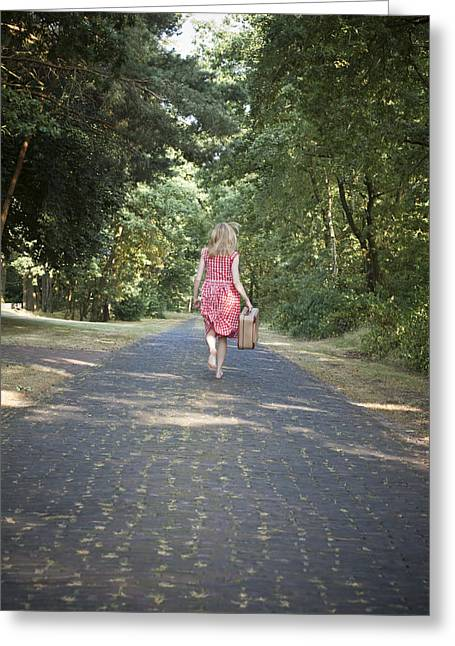 Lonelyness Greeting Cards - Running away Greeting Card by Maria Heyens