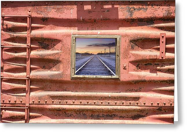 Cargo Train Greeting Cards - Running Down The Line Greeting Card by James BO  Insogna