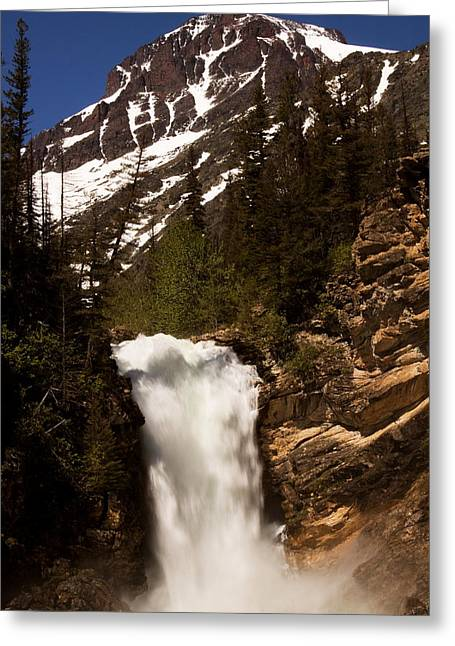 Montana Landscapes Photographs Greeting Cards - Running Eagle Falls Greeting Card by Amanda Kiplinger