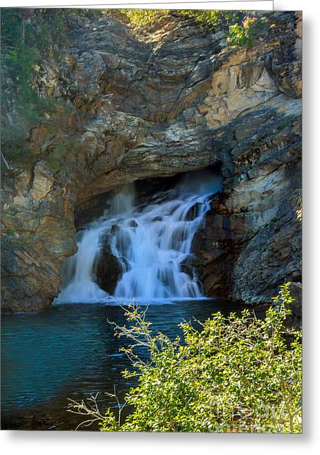 Rivers In The Fall Greeting Cards - Running Eagle Falls  Greeting Card by Robert Bales