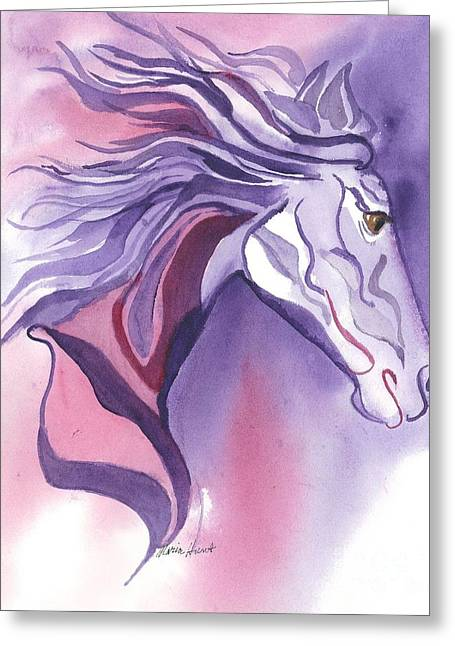 Running Free Greeting Card by Maria Hunt
