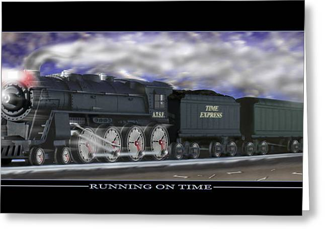 RUNNING ON TIME Greeting Card by Mike McGlothlen