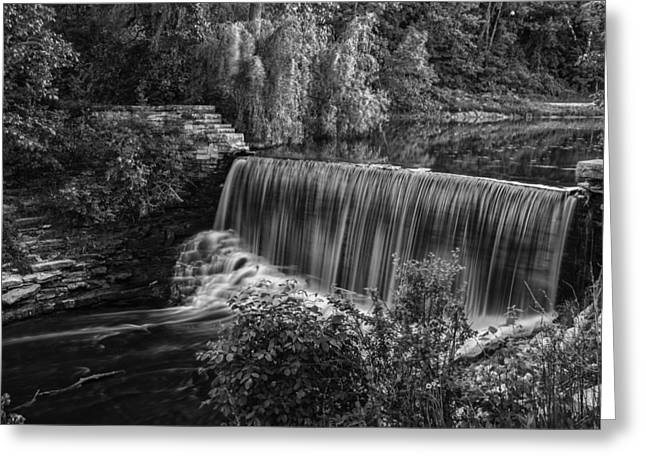 Nik Silver Efex 2 Greeting Cards - Running Over Greeting Card by CJ Schmit