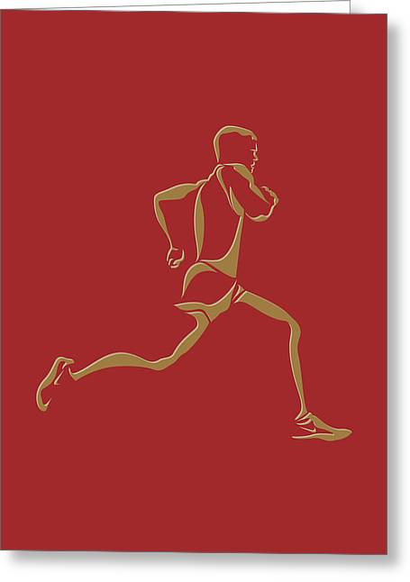 Runner Greeting Cards - Running Runner10 Greeting Card by Joe Hamilton