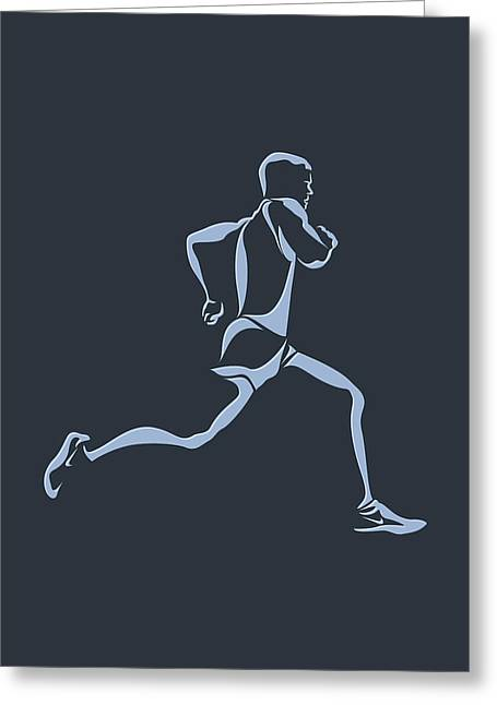 Runner Greeting Cards - Running Runner12 Greeting Card by Joe Hamilton