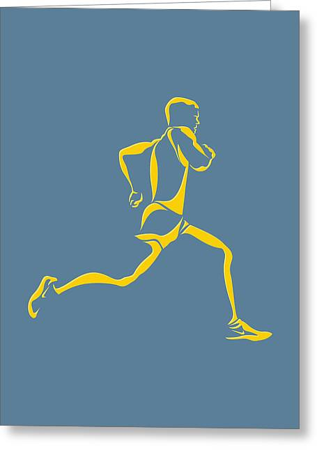Runner Greeting Cards - Running Runner13 Greeting Card by Joe Hamilton