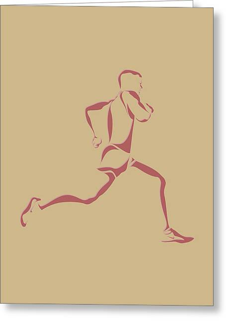 Runner Greeting Cards - Running Runner14 Greeting Card by Joe Hamilton