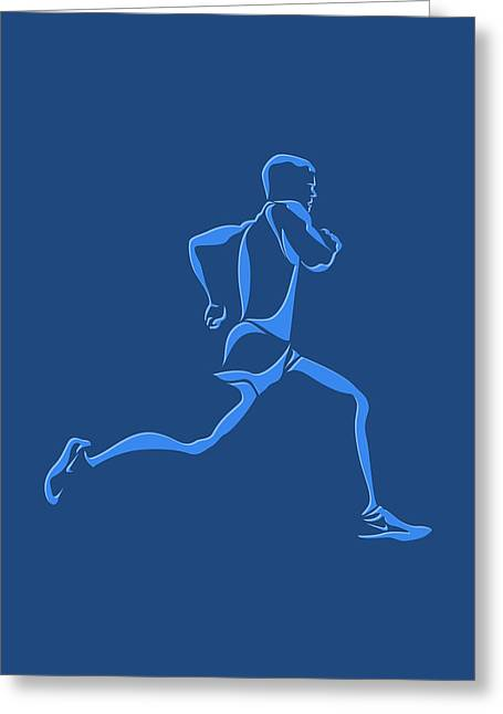 Runner Greeting Cards - Running Runner15 Greeting Card by Joe Hamilton