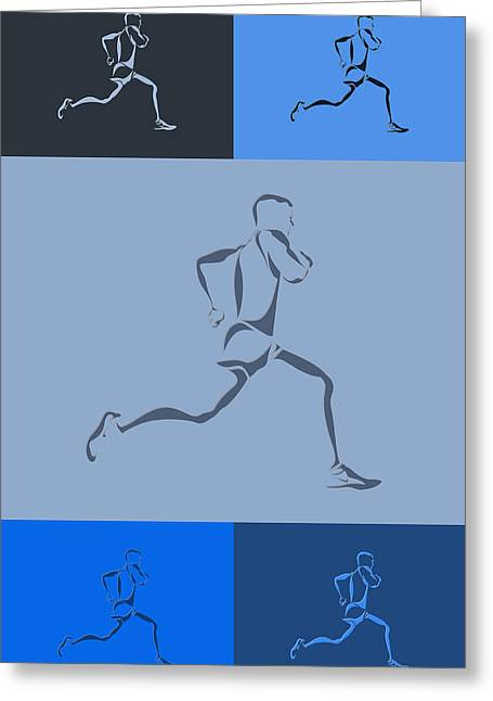 Runner Greeting Cards - Running Runner5 Greeting Card by Joe Hamilton
