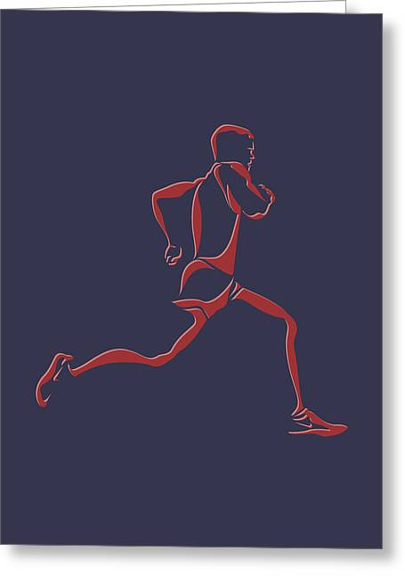 Runner Greeting Cards - Running Runner7 Greeting Card by Joe Hamilton