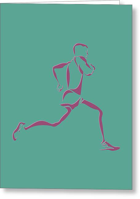 Runner Greeting Cards - Running Runner9 Greeting Card by Joe Hamilton