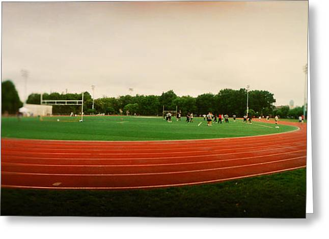 In-city Greeting Cards - Running Track In A Park, Mccarran Park Greeting Card by Panoramic Images