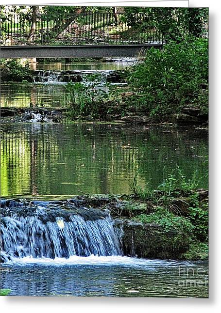 Fishing Creek Greeting Cards - RunningStream Greeting Card by Pics by Jody Adams